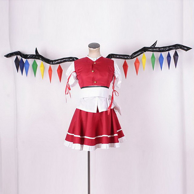 Inspired by TouHou Project Cosplay Anime Cosplay Costumes Japanese Cosplay Suits Solid Colored Others Top Wings For Men's Women's / More Accessories / More Accessories
