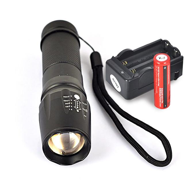 UltraFire W-878 LED Flashlights / Torch 1800 lm LED LED 1 Emitters 5 Mode with Batteries and Charger Nonslip grip Camping / Hiking / Caving Everyday Use Cycling / Bike EU Plug AU Plug UK Plug US Plug