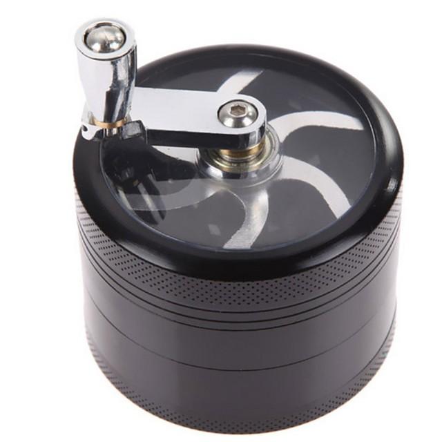4 lagen aluminium chroom crusher molen rookmelders halfautomatische grote tabak kruid grinder
