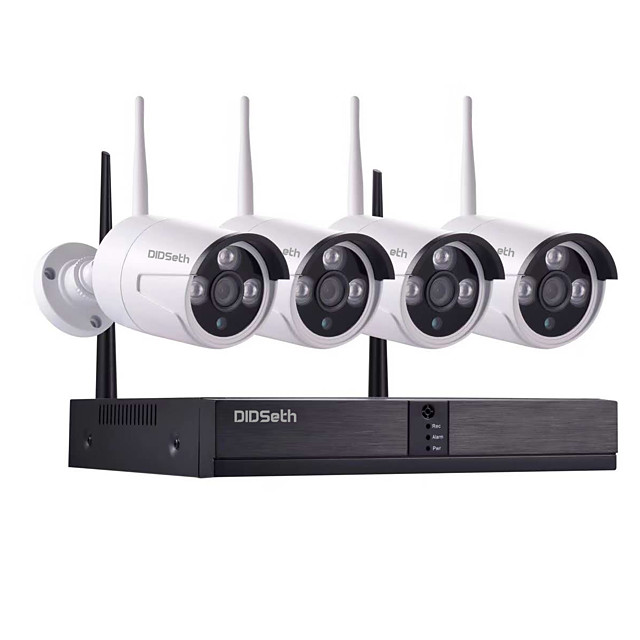 8CH 1080P NVR and 4pcs 960P 1.3Mp Wireless Video Security System (Wireless NVR Kits) Open air 600m