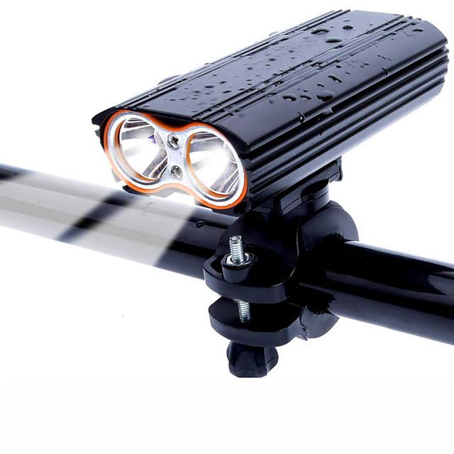 LED Eclairage de Velo Eclairage de Vélo Avant VTT Vélo tout terrain Vélo Cyclisme Imperméable Rotation 360° Modes multiples Super brillant 18650 2000 lm Rechargeable USB Cyclisme / Grand angle
