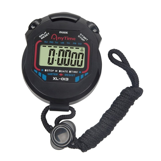 LCD Chronograph Digital Timer Sport Stopwatch Professional Handheld Digital Stopwatch Running Chronograph Counter with Strap