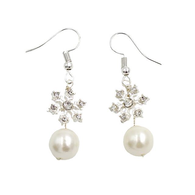 Women's Drop Earrings Braided Cute Imitation Pearl Earrings Jewelry Silver For Wedding Party Festival 1 Pair