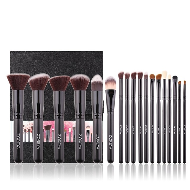 Professional Makeup Brushes 18pcs Eco-friendly Soft New Design Full Coverage Synthetic Wooden / Bamboo for Makeup Set Eyeshadow Kit Makeup Brushes Eyeliner Brush Blush Brush Foundation Brush Makeup