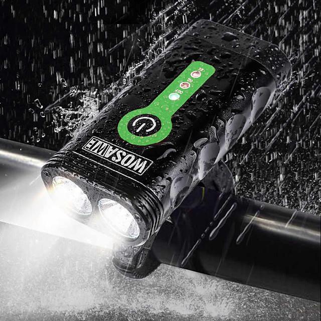 WOSAWE Eclairage de Velo Eclairage de Vélo Avant Phare Avant de Moto Cyclisme Imperméable Portable Ajustable Batterie au lithium 2400 lm Cyclisme - WOSAWE