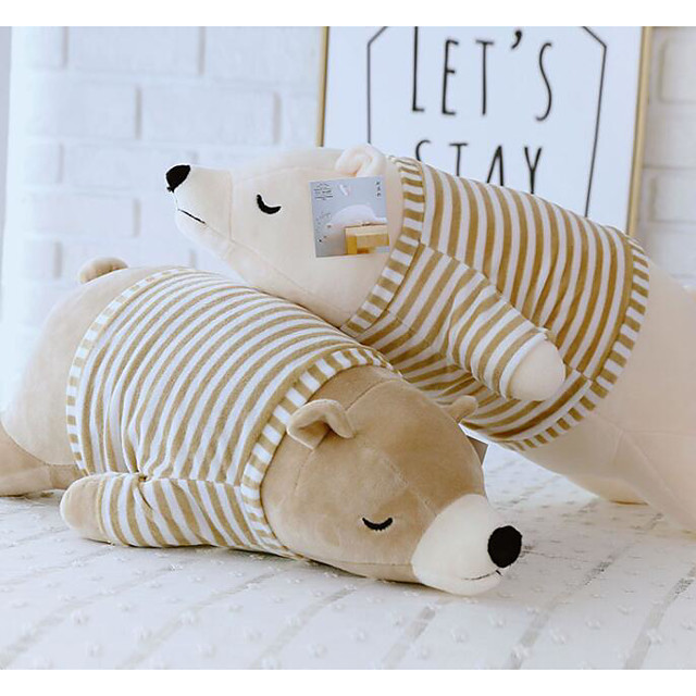 Stuffed Animal Sleeping Pillow Plush Toys Plush Dolls Stuffed Animal Plush Toy Polar bear Animals Cute Cotton / Polyester 50cm Imaginative Play, Stocking, Great Birthday Gifts Party Favor Supplies