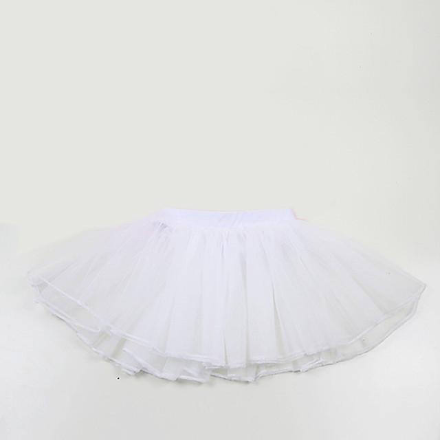 Ballet Tutu Bubble Skirt Under Skirt 1950s Layered White Petticoat / Kid's / Crinoline