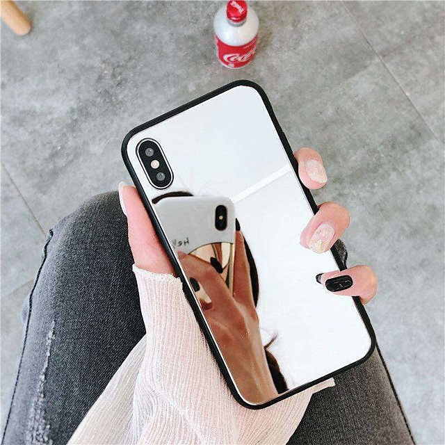 Case For Apple iPhone XS / iPhone XR / iPhone XS Max Mirror Back Cover Solid Colored Hard Acrylic