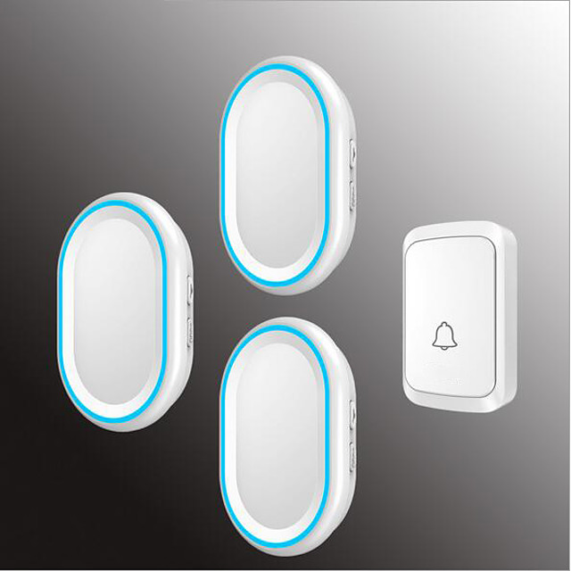 Wireless One to Three Doorbell Music / Ding dong Non-visual doorbell Surface Mounted