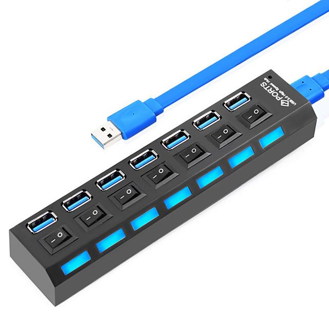 USB 3.0 to USB 3.0 USB Hub 7 Ports With Switch(es)