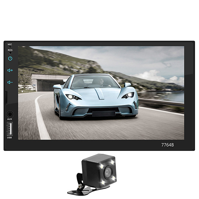 SWM 7764+4LED camera 7 inch 2 DIN Car Multimedia Player / Car MP5 Player / Car MP4 Player Touch Screen / MP3 / Built-in Bluetooth for universal Support MPEG / MPG / WMV MP3 / WMA / FLAC JPEG / BMP