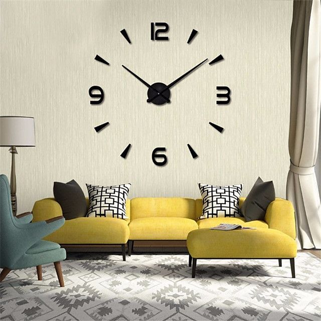 Modern Contemporary / DIY Stainless steel Round Garden Theme / Classic Theme Indoor AA Batteries Powered Decoration Wall Clock Digital Stainless Steel No