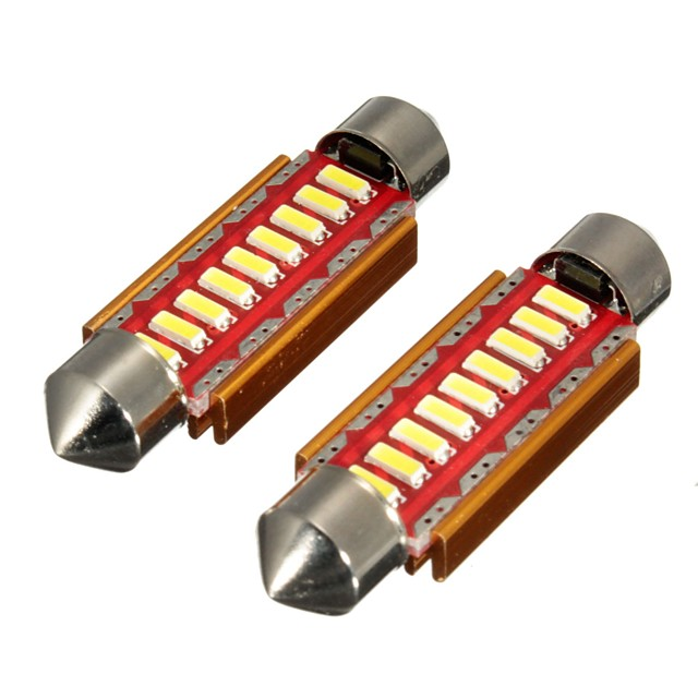 Pair Canbus Error Free 9 LED Car Dome Lights Interior Bulbs Festoon Reading Number Plate Lights- 31MM