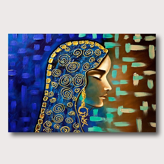 Oil Painting Hand Painted - Abstract Comtemporary Modern Stretched Canvas