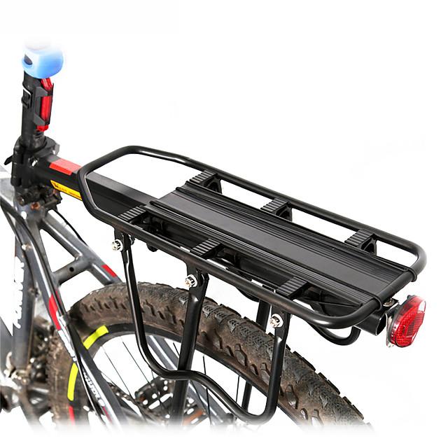 Bike Cargo Rack Max Load 50 kg Adjustable Reflective Logo Quick Release Coating Aluminium Alloy Road Bike Mountain Bike MTB Cycling / Bike - Black / Shock Absorbing / Ergonomic