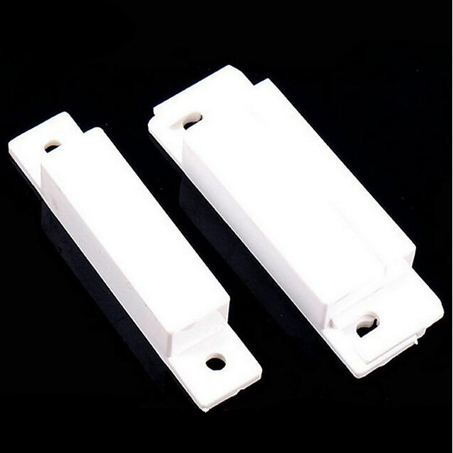 10PCS/Lot Magnetic Contact Reed Switch Wired Door Window Open Alarm Sensor Switches Normal Closed Door magnet