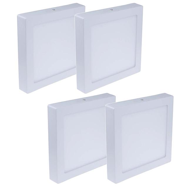 JIAWEN 4pcs 24 W 1920 lm 120 LED Beads Easy Install LED Panel Lights Warm White Cold White 85-265 V