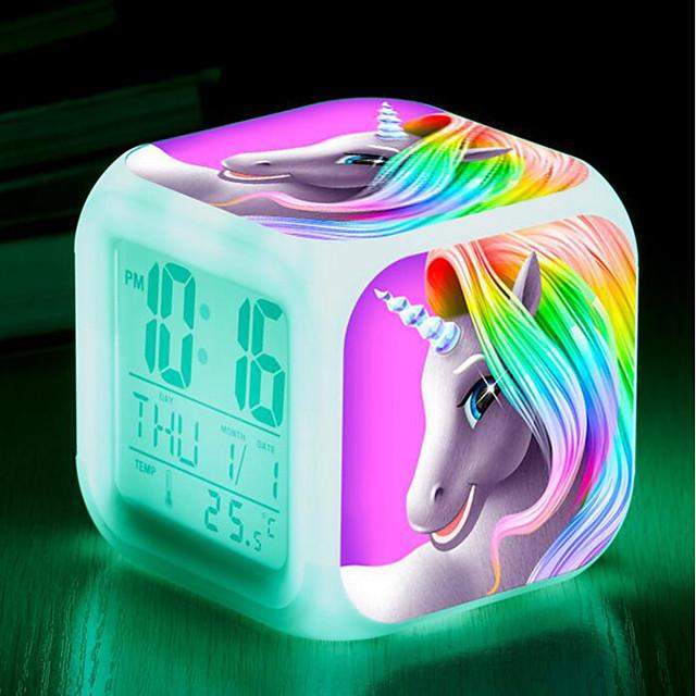 Digital Alarm clock 1 Plastics AAA Batteries Powered Lighting Wake Up Clock / Multi-function / Calendar / date / day