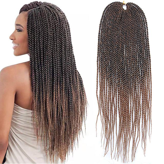 Twist Braids Crochet Hair Braids Straight Box Braids Dark Brown Gray 100 Kanekalon Hair 22 Inch Braiding Hair 30 Roots Pack The Hair Length In The Picture Is 22 Inch 7218680 2020 25 99