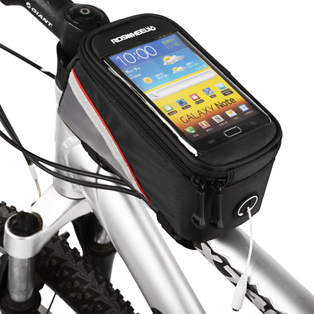 ROSWHEEL Cell Phone Bag Bike Frame Bag Top Tube 4.2 inch Touch Screen Cycling for Samsung Galaxy S6 LG G3 Samsung Galaxy S4 Black Cycling / Bike / iPhone X / iPhone XR / iPhone XS / iPhone XS Max