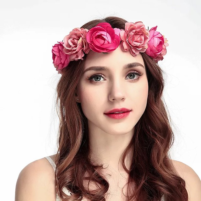 Fabrics Headbands / Headpiece with Ribbons / Floral 1 Piece Wedding / Special Occasion Headpiece