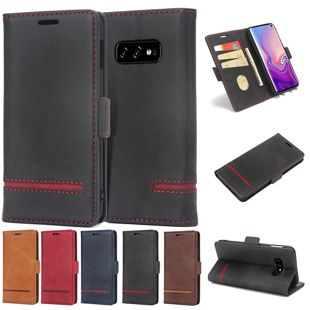 Case For Huawei Huawei P30 / Huawei P30 Pro / Huawei P30 Lite Wallet / Card Holder / Flip Full Body Cases Solid Colored Hard PU Leather