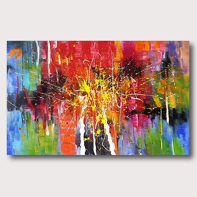 Oil Painting Hand Painted Horizontal Abstract Comtemporary Modern Stretched Canvas
