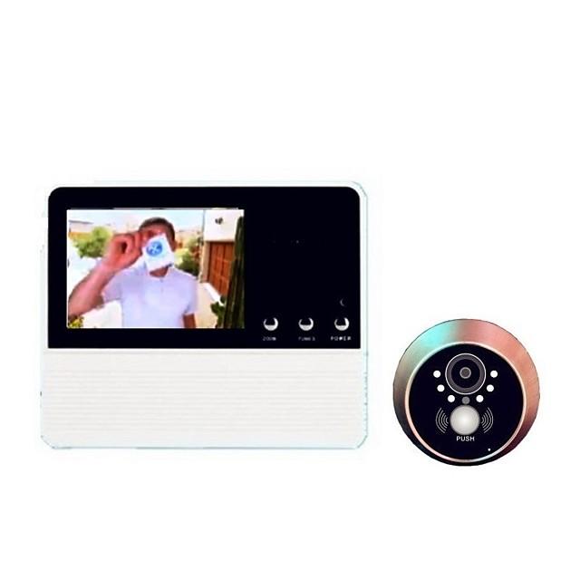 Wireless Digital Video Door Phone Systems Security Door Viewer Built in Speaker 3.2 inch Hands-free One to One video doorphone