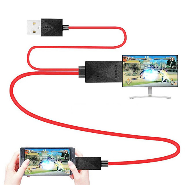 MHL to HDMI Adapter 1080P MHL Micro USB to HDMI Cable Adapter Full HD 1080P TV Converter 11PIN for Samsung Galaxy Phones