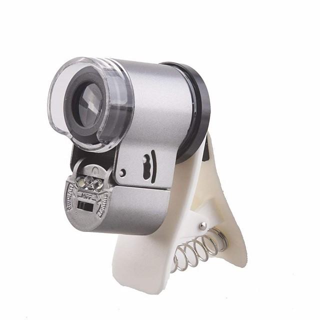 Mobile Phone Lens Macro Lens Glasses / Plastic & Metal / ABS+PC 65X 20 mm 0.01 m 9 ° Lens with LED Light / Creative