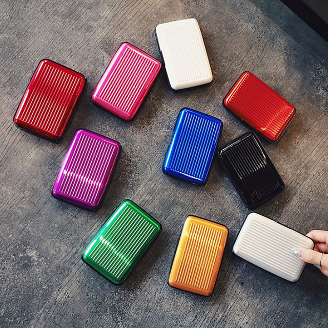 Passport Holder & ID Holder Aluminum Alloy Portable / Multi-function Solid Colored
