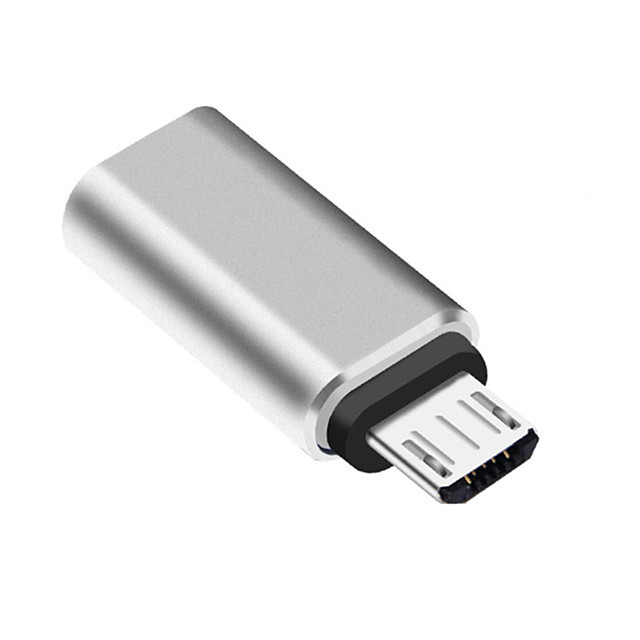 LIFETONE USB 3.0 Micro-B Adapter, USB 3.0 Micro-B to USB 3.1 Type C Adapter Male - Female 1080P Nickel-plated steel 0.05m(0.15Ft) 5.0 Gbps