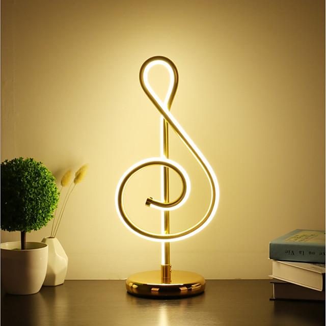 Table Lamp / Desk Lamp Decorative / Lovely Simple / Modern Contemporary LED power supply For Study Room / Office / Girls Room Aluminum 220-240V White / Gold