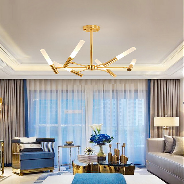 8-Light 73 cm Mini Style Chandelier Metal Mini Electroplated / Painted Finishes Nature Inspired / LED 110-120V / 220-240V