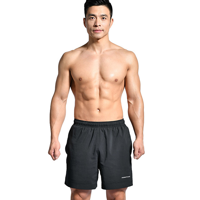 Funic Mens New Swim Summer Cotton Fitness Fast-Drying Sweat-Absorbing Bodybuilding Shorts