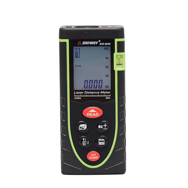 SNDWAY SW-M40 40m Handheld Laser Range Finder Infrared Measuring Instrument Laser Electronic Ruler Distance Meter