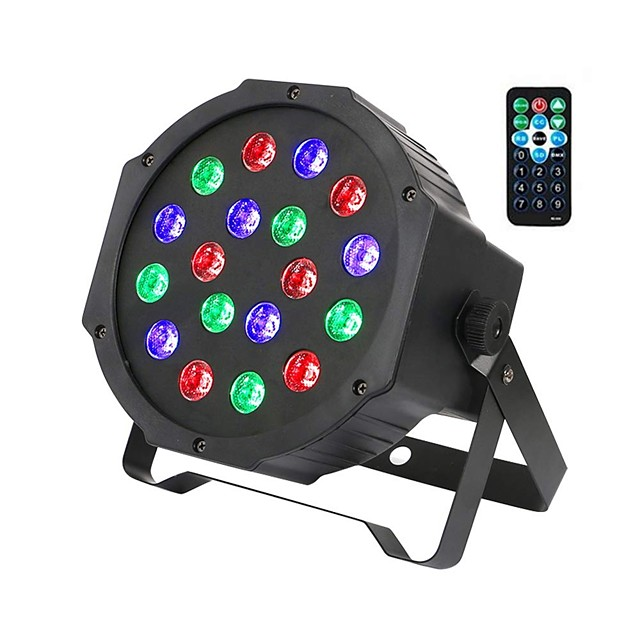 ZDM® 1 set 18 W 1000-1200 lm 18 LED Beads Remote Control / RC Easy Install New Design LED Stage Light / Spot Light RGB 110-240 V Ceiling Commercial Stage