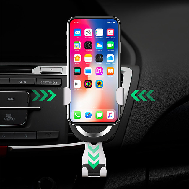 2 in 1 Gravity Auto Lock Car Air Vent 7.5W Fast Wireless Car Charger For Qi Enabled Cellphone Devices