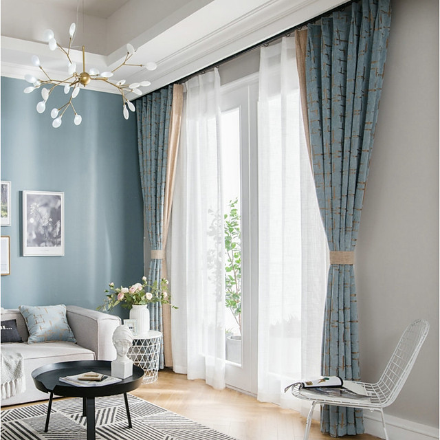 European Privacy Two Panels Curtain, Living Room Curtain