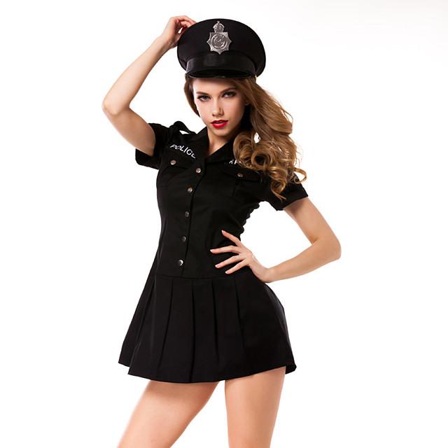 Halloween Kläder Dam Polis
