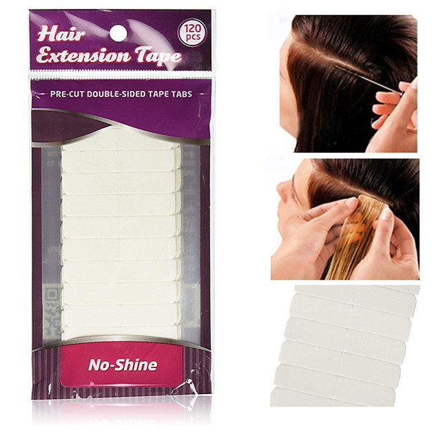 10*12pcs/lot White No Shine Hair Extension Tape Adhesive Bonding Double Sided Tape Waterproof For Hair Extension/Lace Wig/Toupee