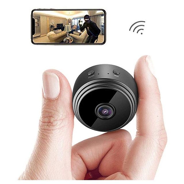 A9 IP Camera Full HD 1080P WiFi Security Camera Night Vision Wireless 80 Degrees Wide Angle Outdoor Mini Camera Home Security Surveillance Micro Small Camera Remote Monitor Phone OS Android App