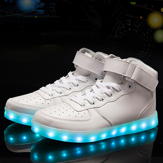 Men's Light Soles PU Fall & Winter Sporty / LED / Casual Sneakers Walking Shoes Waterproof Black / White / Red / Party & Evening / Party & Evening