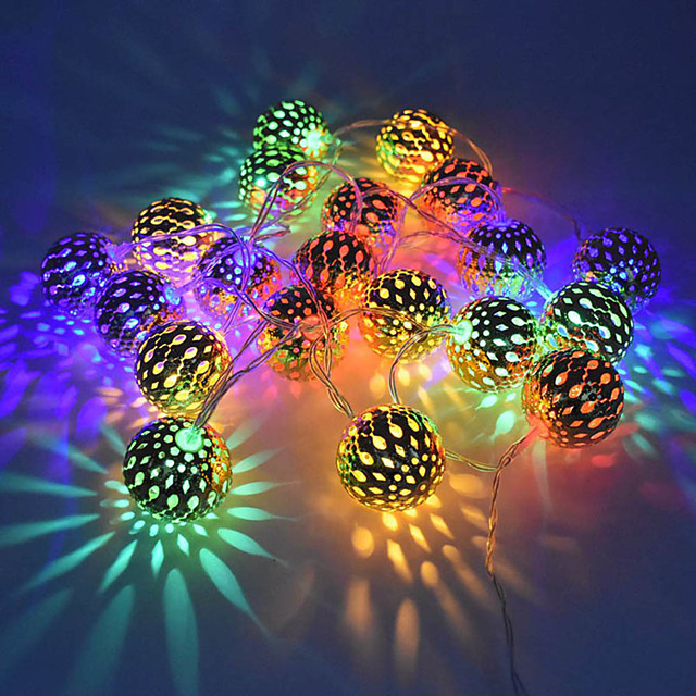 1.5m String Lights 10 LEDs Warm White RGB White Creative Party AA Batteries Powered