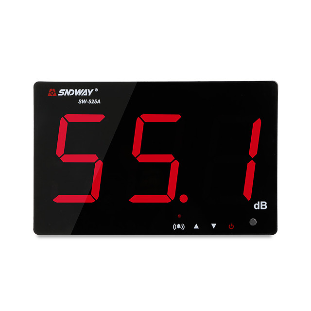 SNDWAY SW-525A Digital Sound level meter 30~130db large screen display Restaurant Bar/office/home Wall hanging noise meter