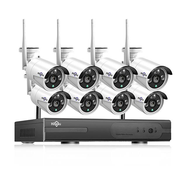 Hiseeu POEKIT-8HB612 HD 8CH NVR 1080P POE CCTV camera System Kit 3MP Outdoor Waterproof IP Camera POE home security Video Surveillance set Hiseeu 20 mp IP Camera Outdoor Support