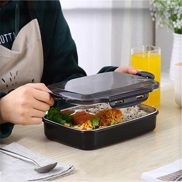 Lunch Box Stainless Steel Portable Picnic With Compartments Microwavable Thermal Bento Box