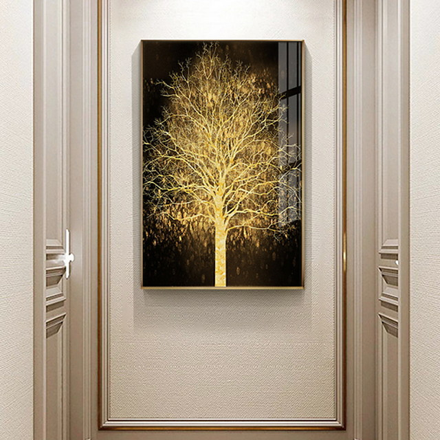 Gold Tree Botanical Prints Luxury Style Framed Wall Art