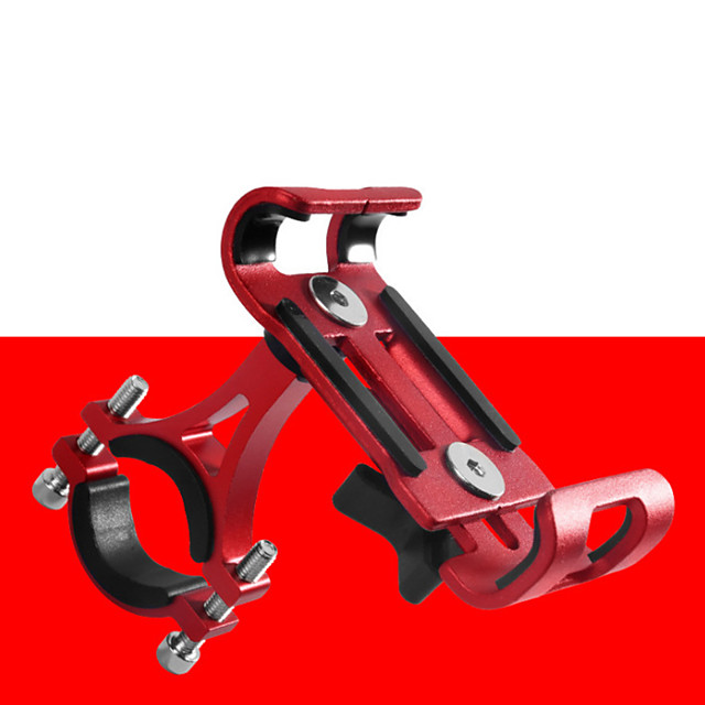Bike Phone Mount Adjustable / Retractable Anti-Slip Universal for Road Bike Mountain Bike MTB Aluminum Alloy iPhone X iPhone XS iPhone XR Cycling Bicycle Silver Red Blue