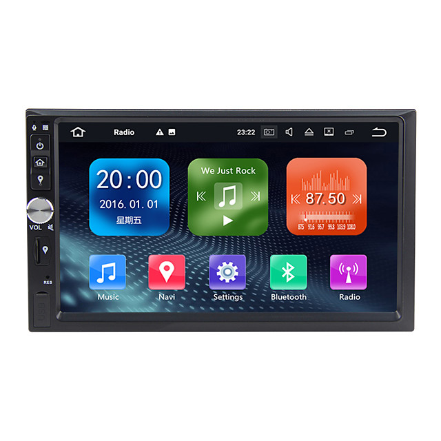 Factory OEM WN7092S 7 inch 2 DIN Android 9.0 In-Dash Car DVD Player / Car Multimedia Player / Car GPS Navigator GPS / Built-in Bluetooth / RDS for universal / Universal RCA / GPS Support MPEG / AVI
